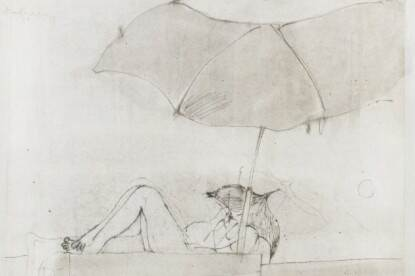 Jan Budding, Parasol, pentekening, 1973