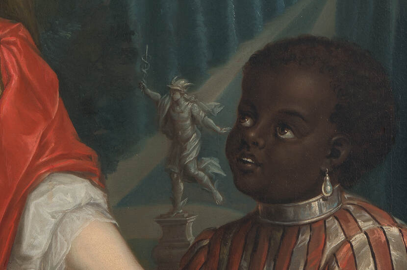 LM03297 Marcus Lodovicus Antonius Clifford (1670/75-1738), Adriana Wilhelmina Burlamacchi (1684-1760) (detail), 1730 Foto: Margareta Svensson